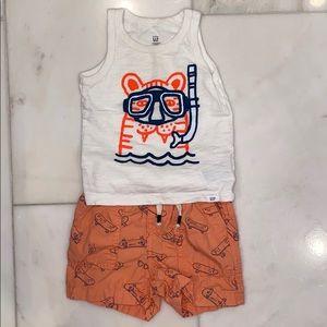 Baby Gap tank and shorts set SZ 12–18 mo